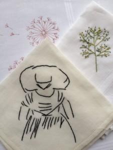 Voorbeelden geborduurd zakdoekje