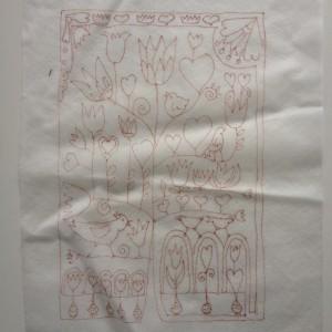 getekende patroon op Soluvlies