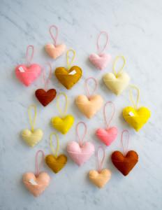 vilten harten van Purl Soho