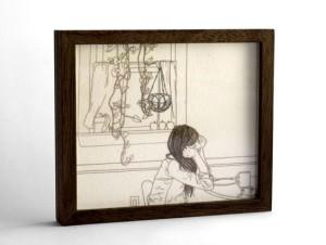 Melanie Bilenker - Kitchen Window, work on paper, 2012. Courtisy of Sienna Patti.