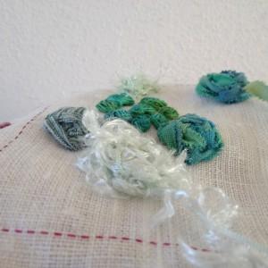 TAST raised cross stitch flower detail
