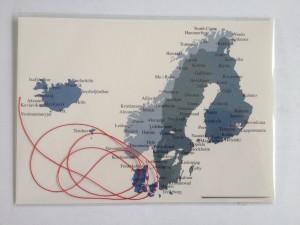 Scandinavië en IJsland.