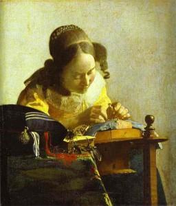 Johannes Vermeer - Kantwerkster