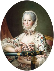 Madame de Pompadour - werkend aan tamboerwerk. Royalcollection.co.uk