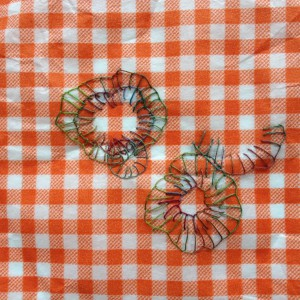 festonroosjes op vertvrij papier van Frans kaasje