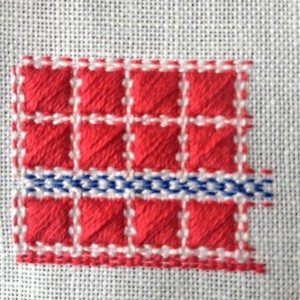 patroon omslagdoek omgezet in telbaar borduurwerk