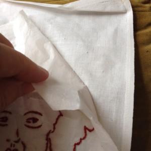 portret - het weghalen van het papier