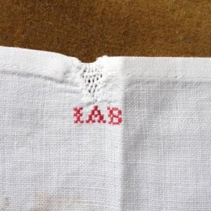 antiek linnen als ondergrond
