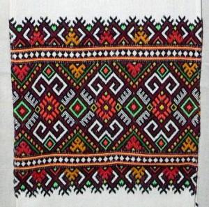 Hongaars borduurwerk dat de zien zal zijn op de expositie