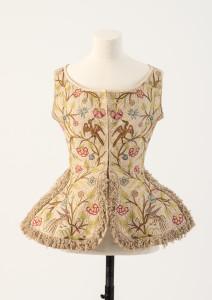 geborduurde 'waistcoat' uit de 1700's